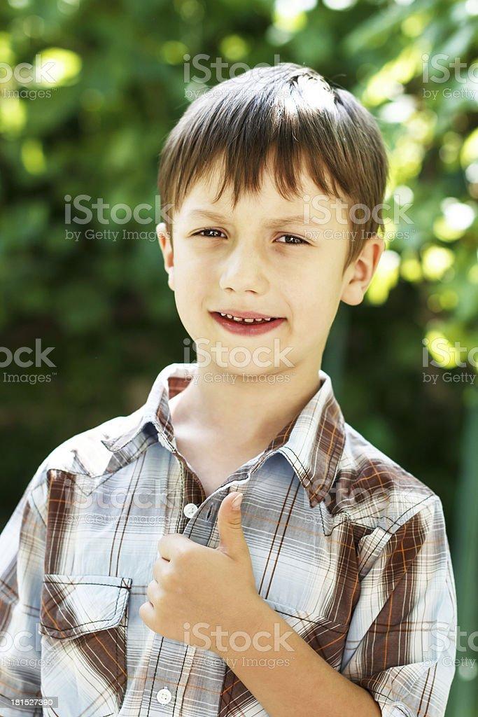 Kid thumb up royalty-free stock photo