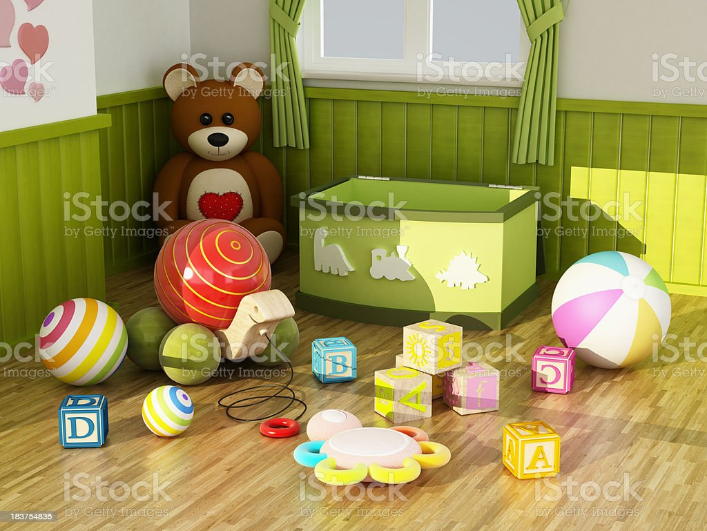 Kid toys stock photo