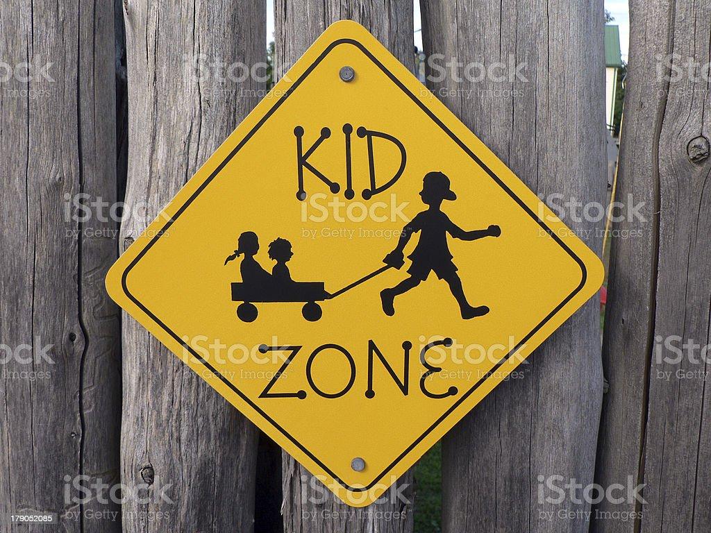 Kid zone royalty-free stock photo