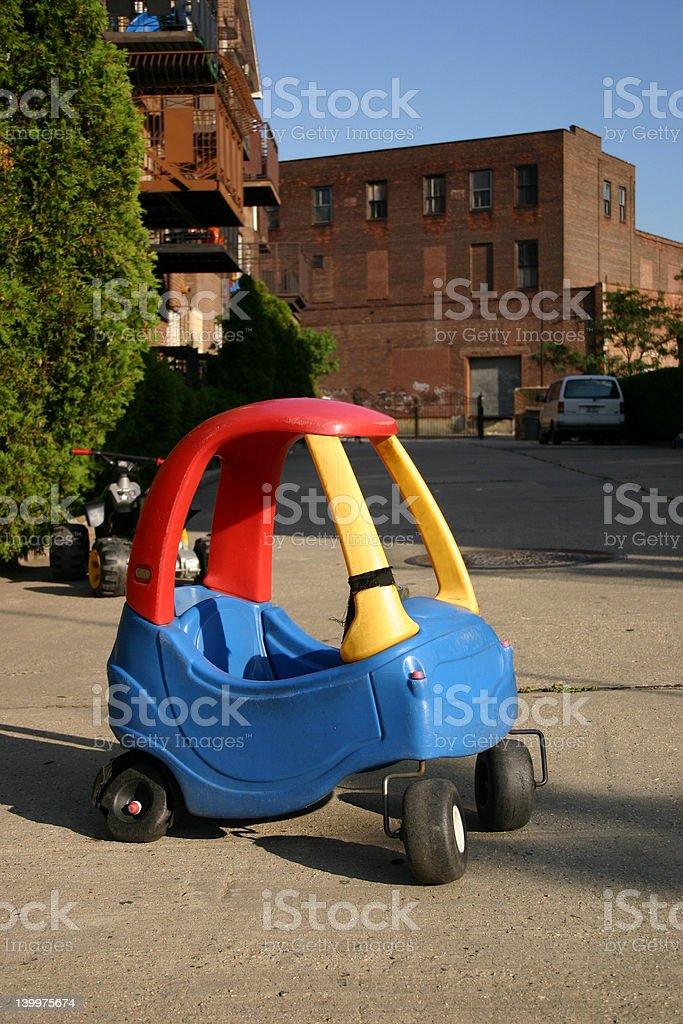 Kiddie Car on a Brooklyn Street royalty-free stock photo