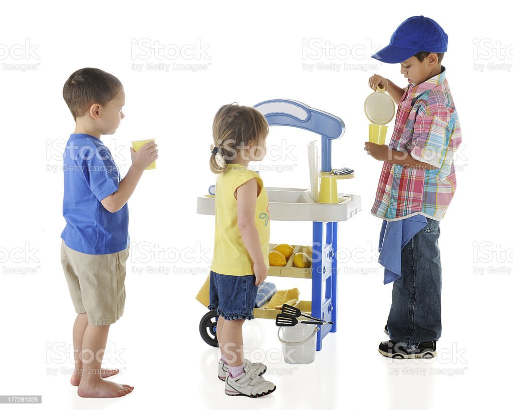 Kiddie Lemonade Stand royalty-free stock photo