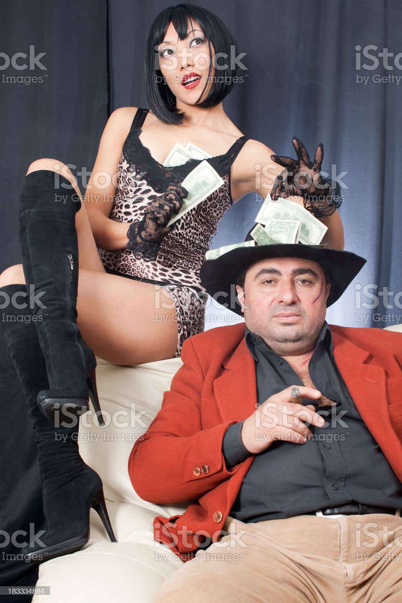 Kidnapper gangsters and money royalty-free stock photo