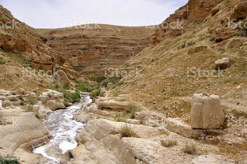 Kidron gorge, Israel. stock photo