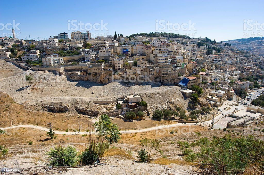 Kidron valley in Jerusalem stock photo