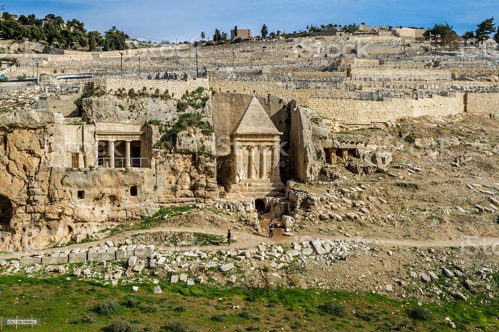 Kidron Valley, Jerusalem stock photo