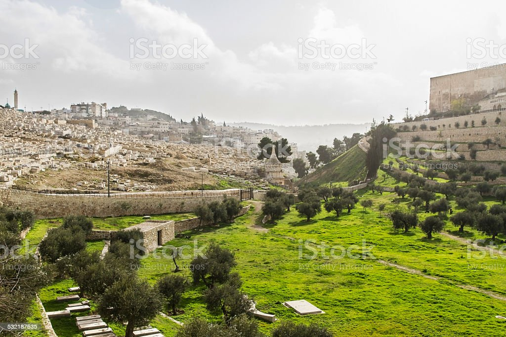 Kidron Valley. Jerusalem stock photo
