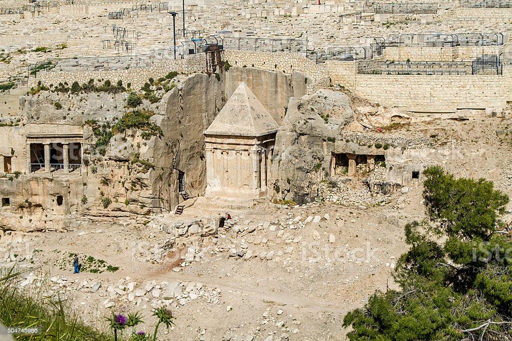 Kidron Valley or Kings Valley, Jerusalem stock photo