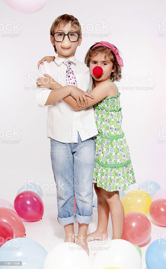 Kids and party fun stock photo