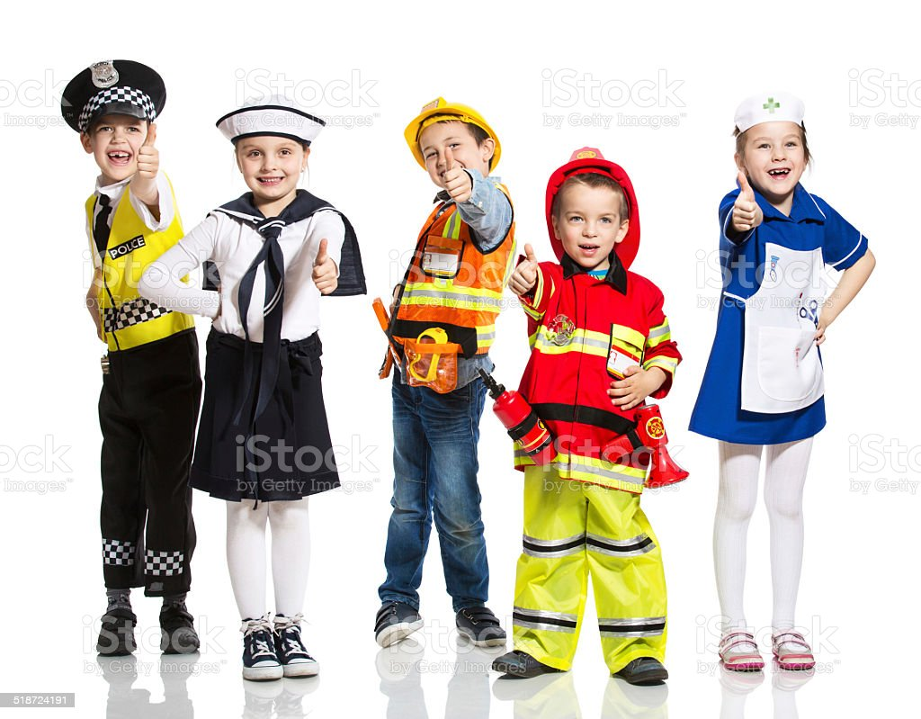 Kids and Professions stock photo