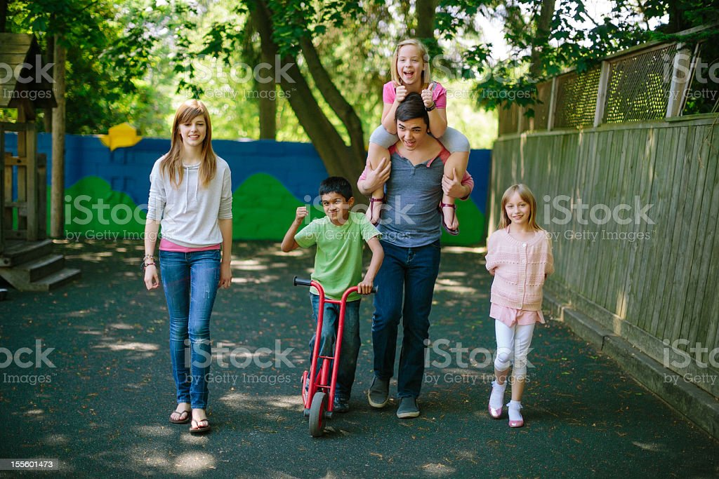 kids and teens stock photo