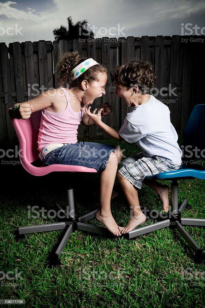 kids arguind royalty-free stock photo