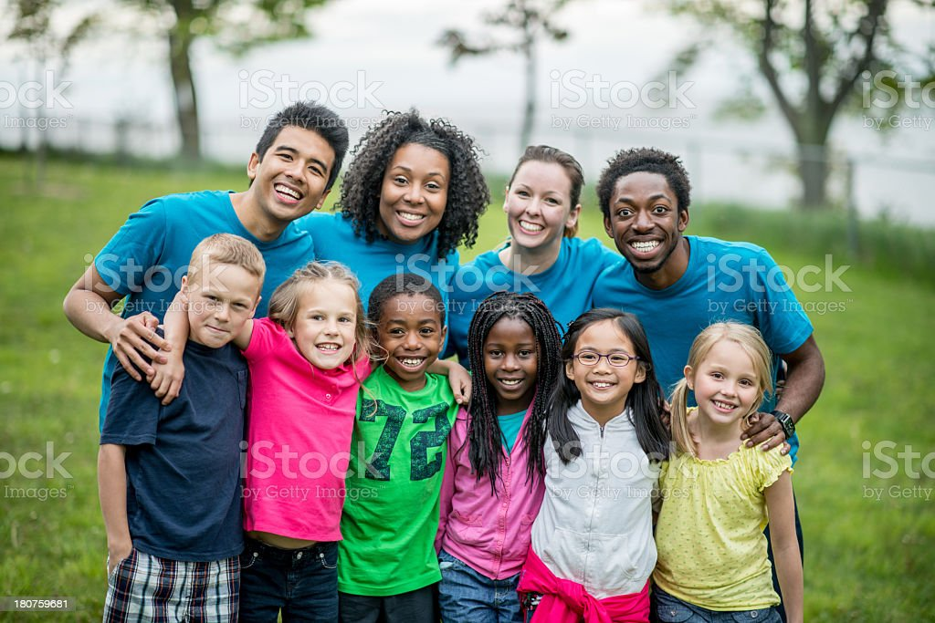 Kids at Day Camp stock photo