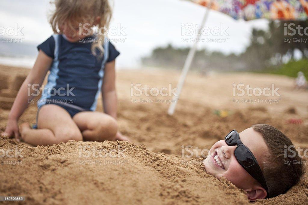 kids at the beach. stock photo