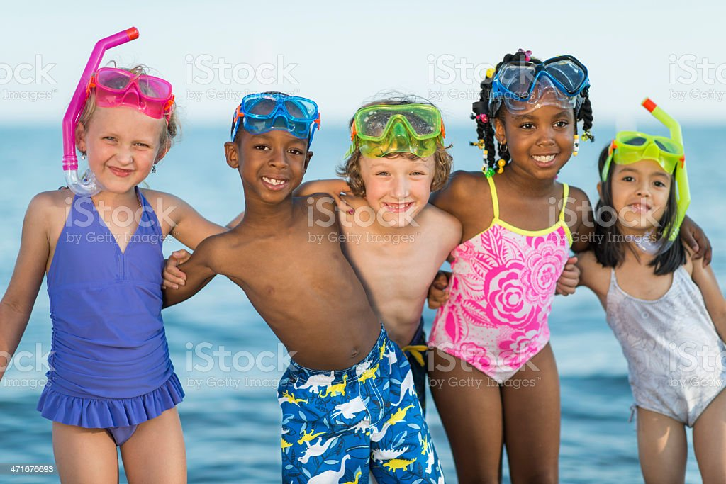 Kids at The Beach royalty-free stock photo