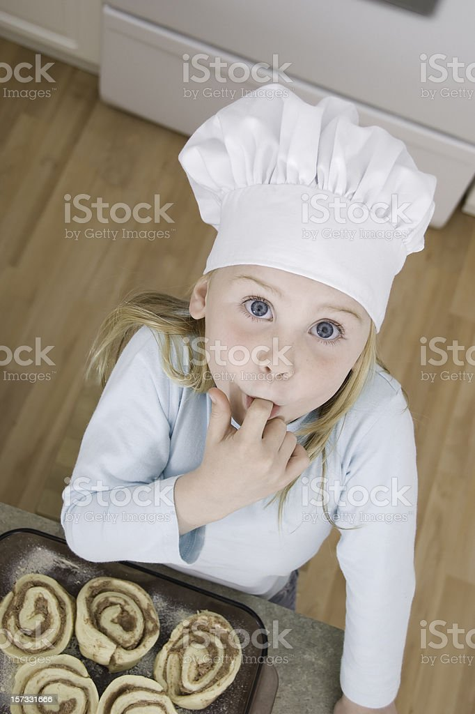 Kids Baking Series royalty-free stock photo