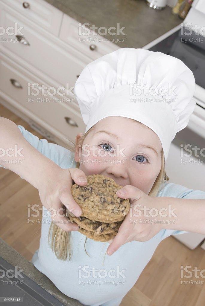 Kids Baking Series royalty-free stock photo