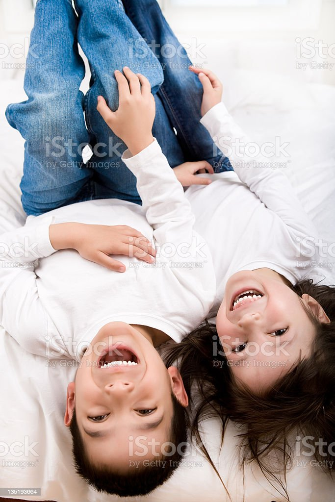 Kids bedroom portrait royalty-free stock photo