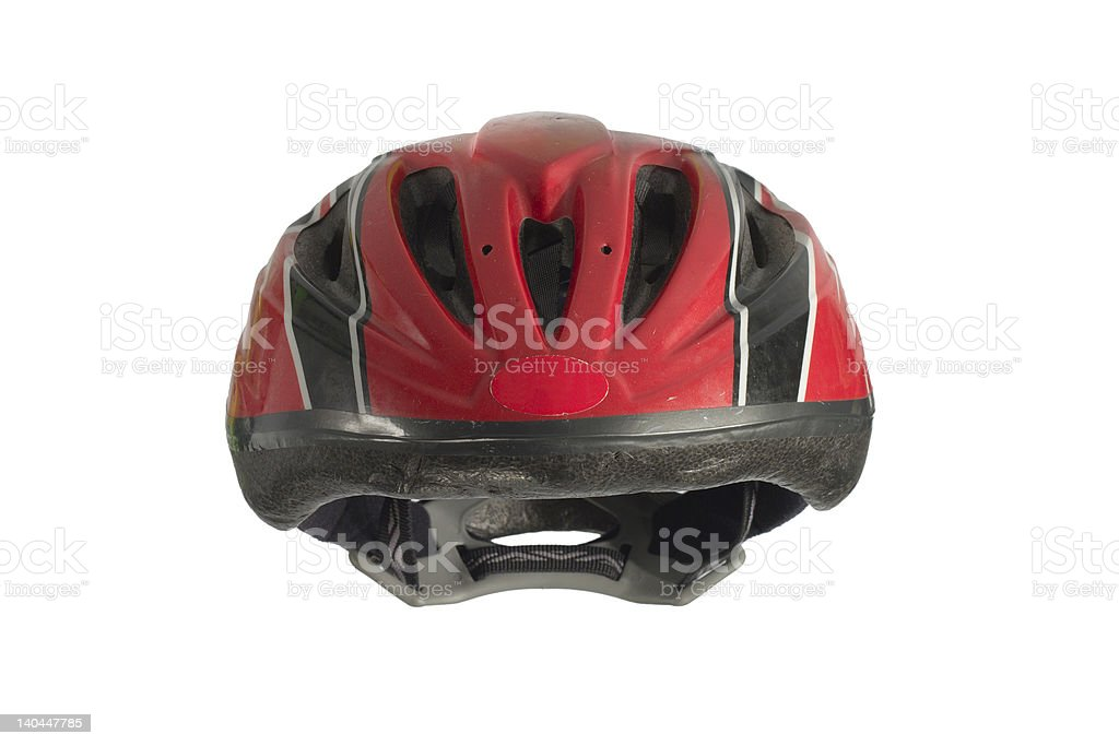 kids' bike helmet with clipping path royalty-free stock photo