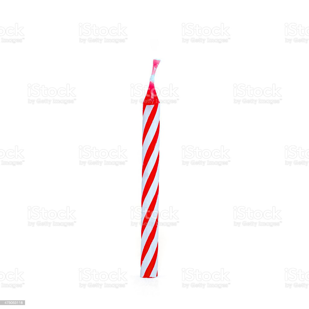 Kids birthday candles stock photo