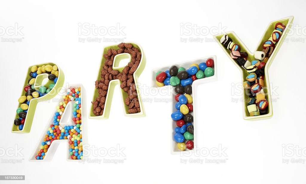 Kid's birthday party announcement royalty-free stock photo