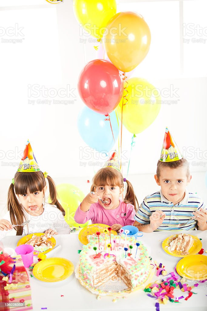 Kids birthday party royalty-free stock photo