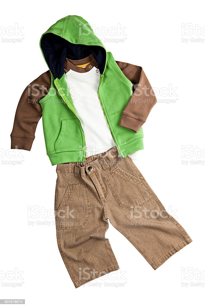 kids clothes stock photo