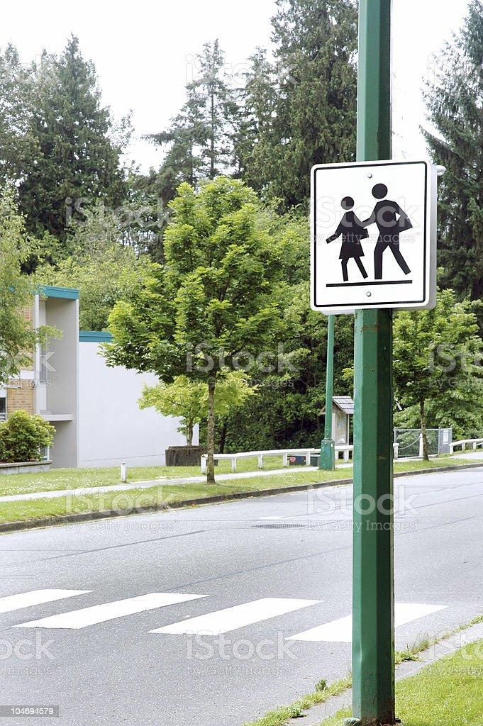 kids crossing royalty-free stock photo