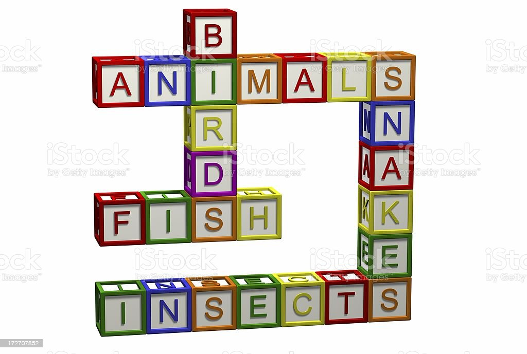 Kids Crossword - Nature royalty-free stock photo
