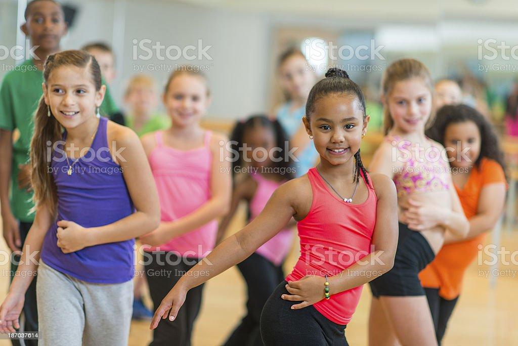 Kids Dance Fitness stock photo