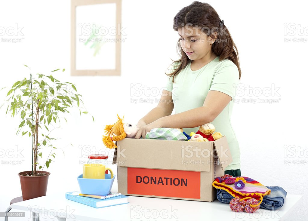 kids donation royalty-free stock photo