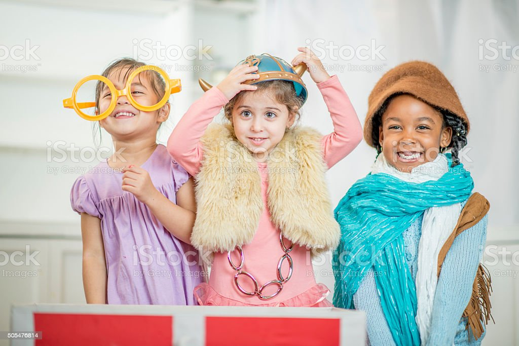 Kids Dressed up During Play Time stock photo