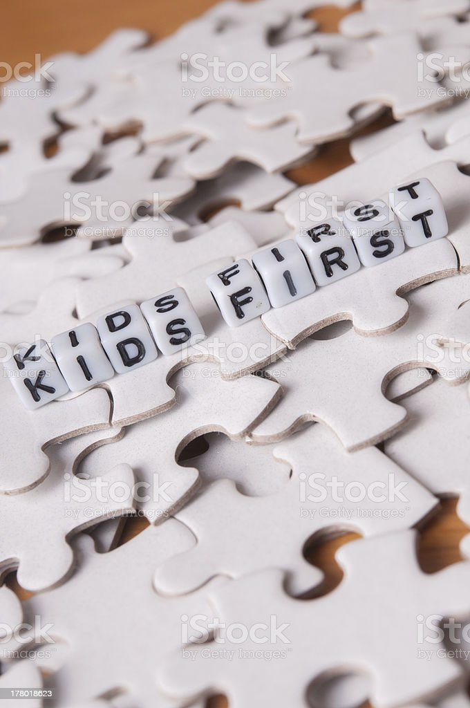 Kids First royalty-free stock photo
