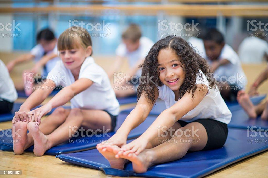 Kids fitness stock photo