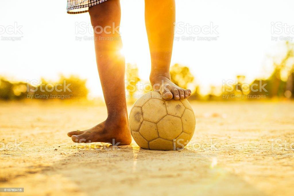 kids football stock photo