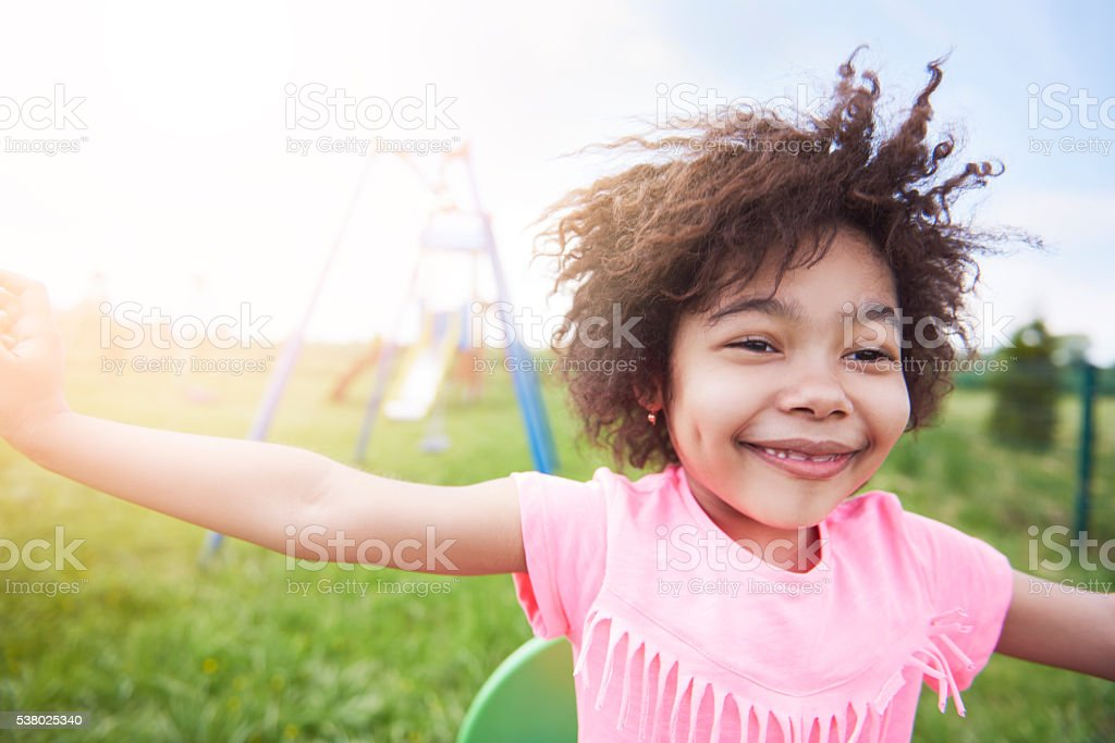 Kids freedom is the most sincere stock photo