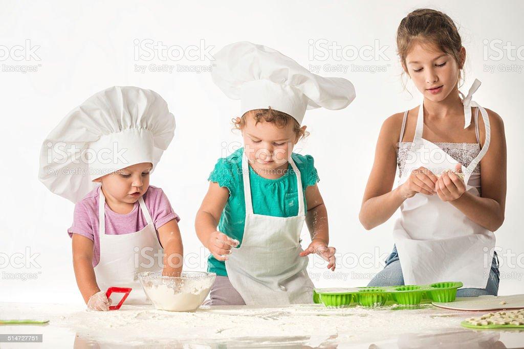 Kids fun - cooks paty stock photo