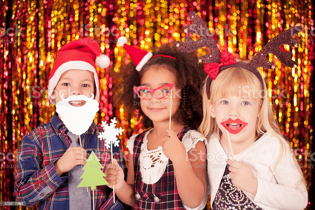 Kids have a fun for Christmas stock photo