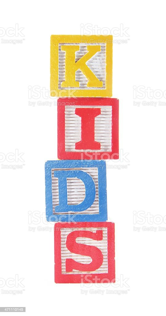 Kids in Alphabet Blocks stock photo