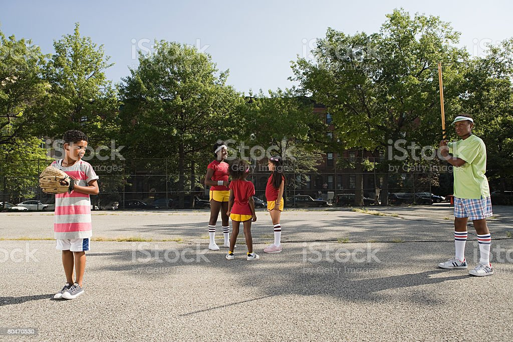 Kids in playground royalty-free stock photo