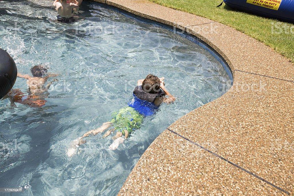 Kids In Pool stock photo
