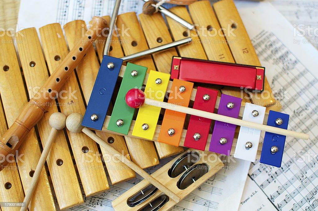 Kids Instruments stock photo
