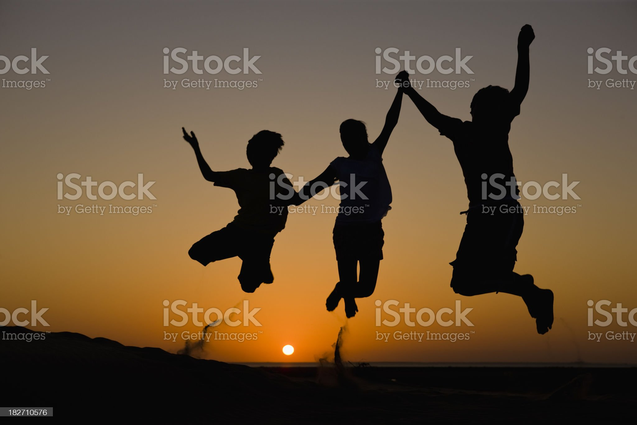 Kids Jumping royalty-free stock photo