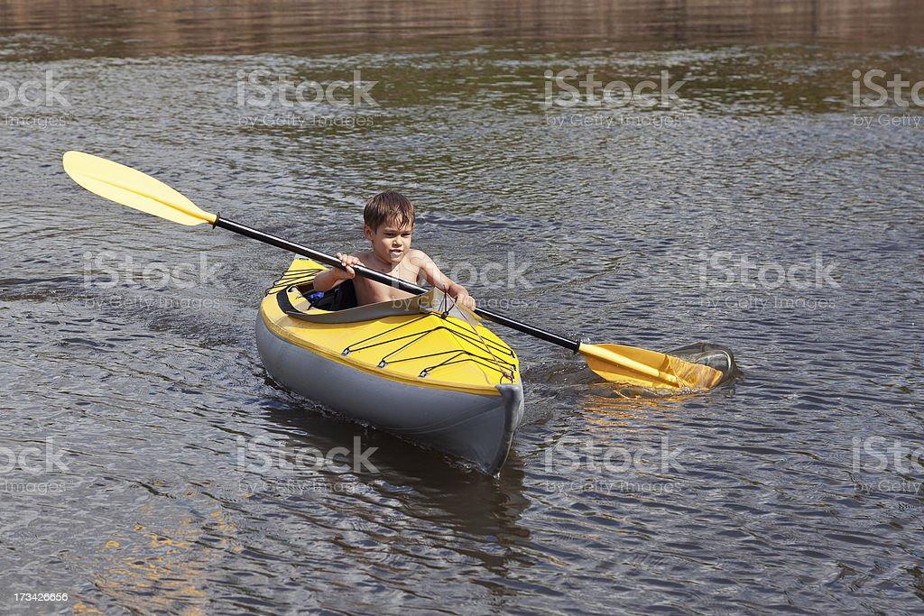 kids kayaking royalty-free stock photo