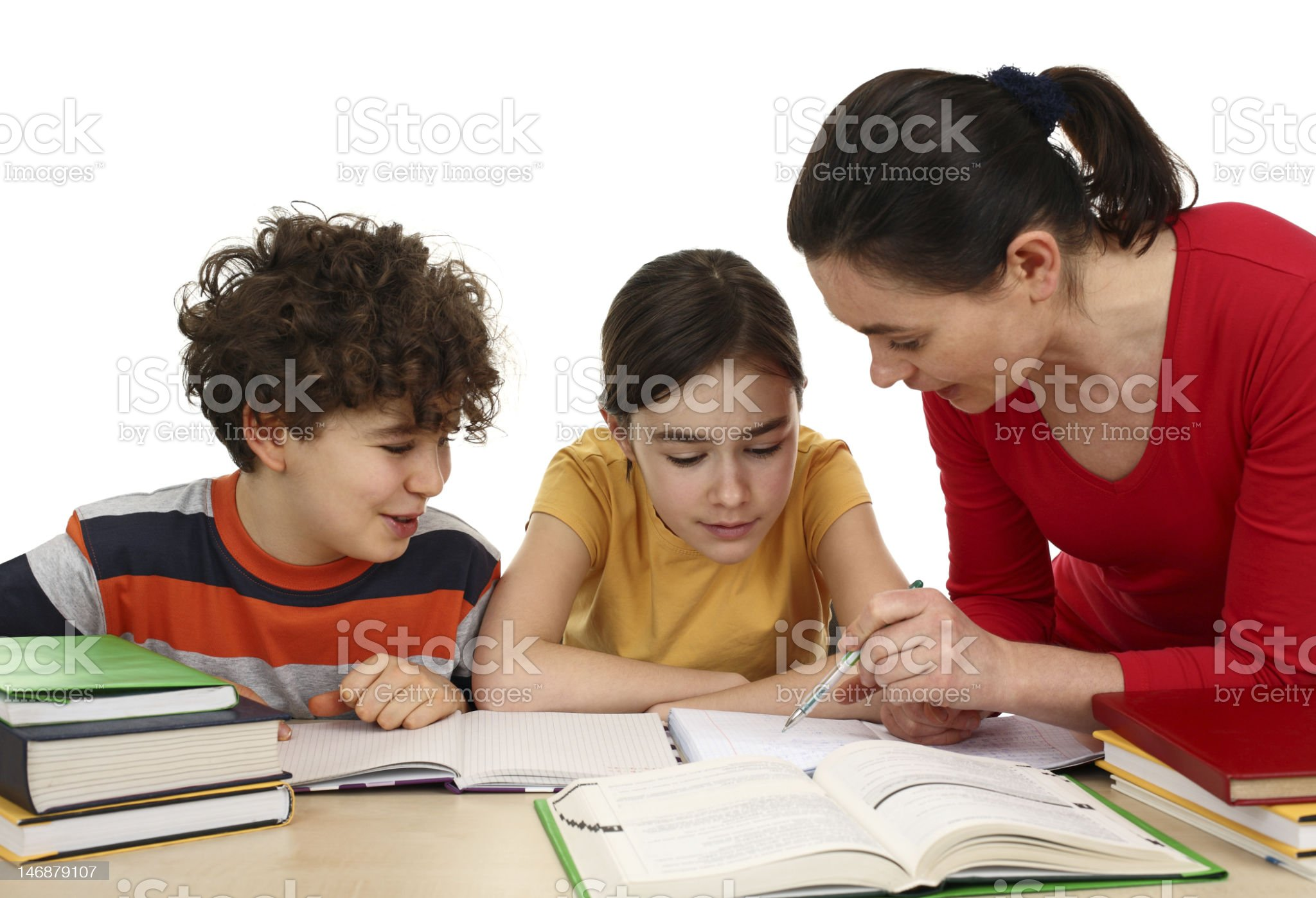 Kids learning isolated on white background royalty-free stock photo