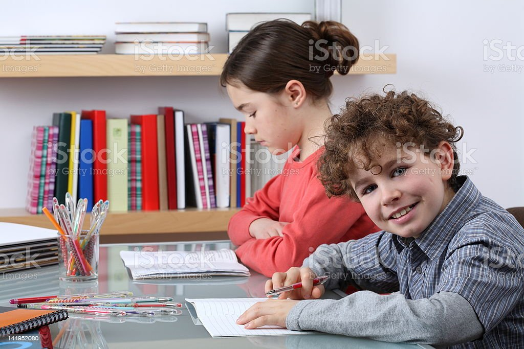Kids learning royalty-free stock photo