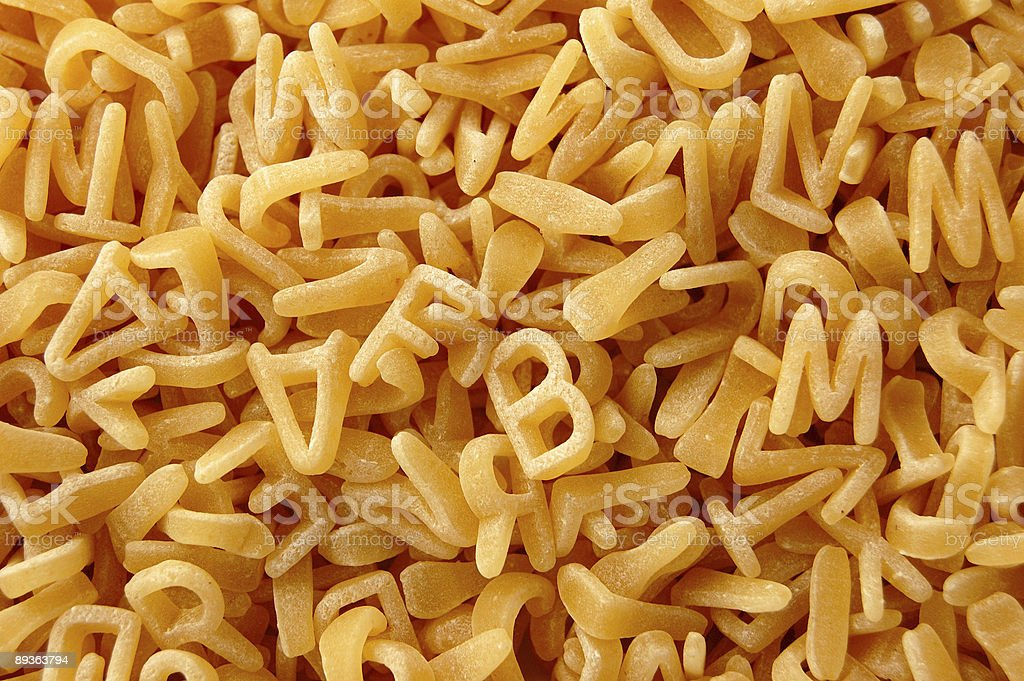 kids letters pasta background royalty-free stock photo