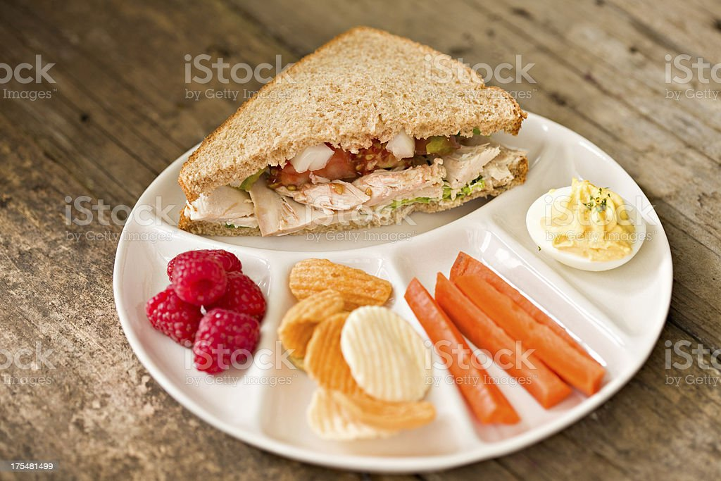 Kid's Lunch Plate royalty-free stock photo