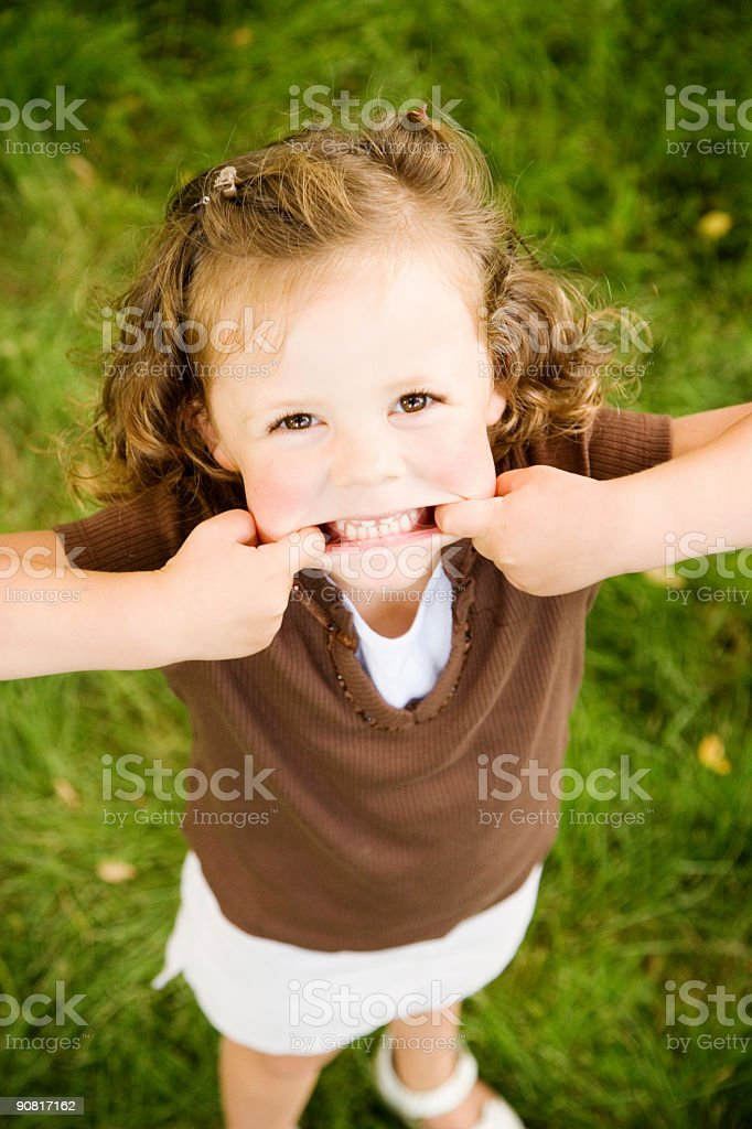 Kids / Making Faces stock photo