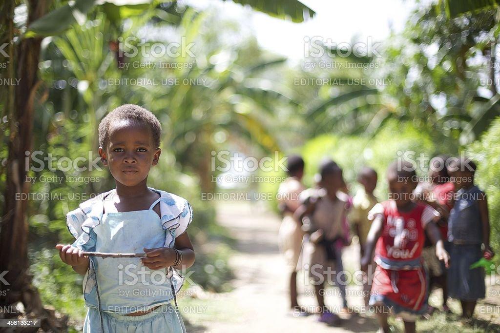 Kids of Mto wa Mbo stock photo