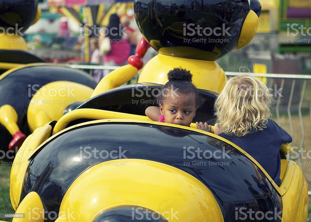 Kids On Fair Ride stock photo